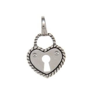 Fossil Jewelry Womens Stainless Steel Heart Charm