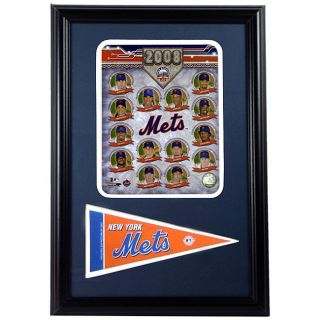 2008 New York Mets Framed Print with Mini Pennant