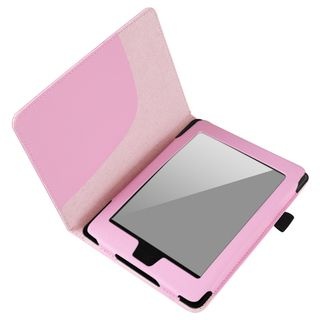 BasAcc Pink Leather Case for  Kindle Paperwhite