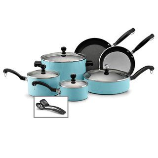 Farberware Classic Colors, 12 Piece Cookware Set, Turquoise
