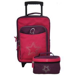 O3 Kids Bling Rhinestone Star Luggage and Toiletry Bag Set
