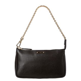 Fendi Crayon Black Saffiano Leather Pouchette Bag