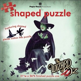 Paper House Oz Wicked Witch 500 piece Shaped Jigsaw Puzzle