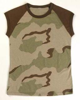 Womens Camouflage T Shirts Desert Camo Tee Clothing