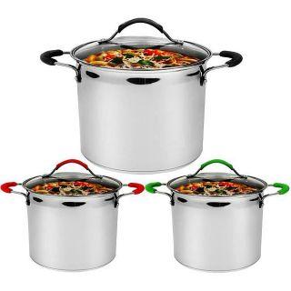 18/10 Stainless Steel 8 quart Cookware Stock Pot