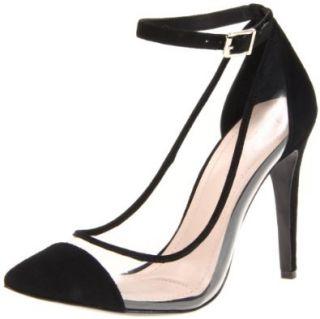 BCBGeneration Womens Cynthia Pump,Black/Transparent,5 M US Shoes
