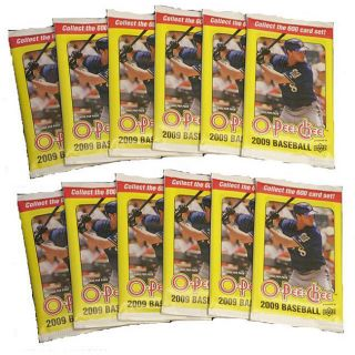 Upper Deck O Pee Chee MLB 2009 Trading Card Packs (Case of 12 Packs