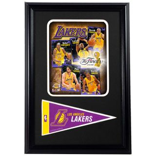LA Lakers 2009 Finals 12x18 Framed Print with Pennant