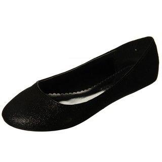 Rampage Womens Millicent Black Ballet Flats