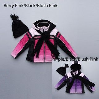 Rothschild Big Girls Pink/ Black Puffy Coat FINAL SALE