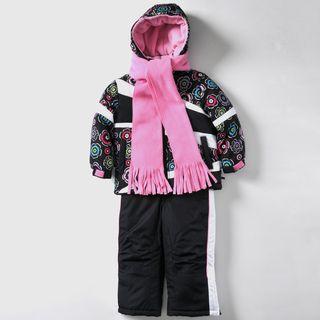 Rothschild Girls 4 6X Floral Print Snowsuit