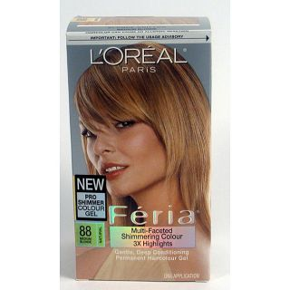 Oreal Feria Number 88 Blonde Chiffon Hair Color (Pack of 3