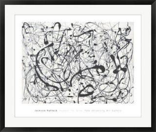 Jackson Pollock Number 14 Gray Framed Art Reproduction