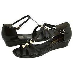 Enzo Angiolini Nine Dark Brown Leather Sandals