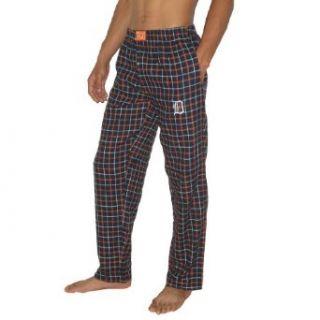 Mens MLB Detroit Tigers Plaid Cotton Thermal Sleepwear