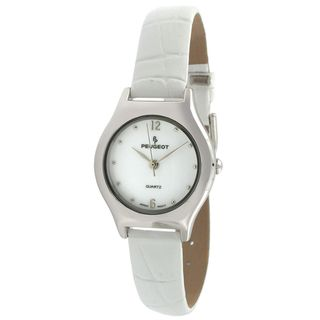Peugeot Vintage 356WT Winter White Leather Watch