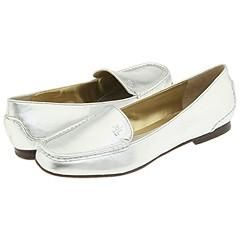 LAUREN Ralph Lauren Clara Casual Loafer Silver Metallic Nappa Loafers