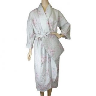 Antique Pinks Floral Kimono Robe with Envelope Pouch