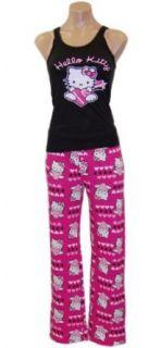 Hello Kitty Follow Your Heart Black Tank, Boxer & Pant Set