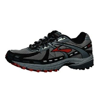 Brooks Mens Adrenaline A SR 7 Pavement Grey/ Red/ Multi Trail