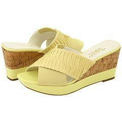 Franco Sarto Gilt Light Yellow Nappa Sandals