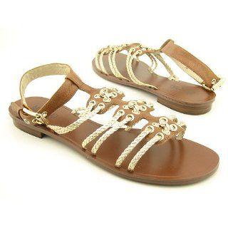 Michael Kors Size 8 Womens Gold BRISTOL ANKLE Sandals Shoes