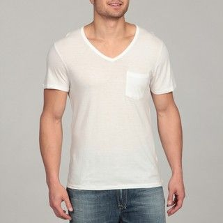 Buffalo by David Bitton Mens White V neck Tee