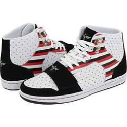 Creative Recreation Cesario Black/White/Red Stripes Athletic