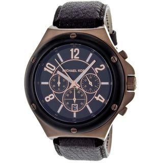 Michael Kors Mens Rocktop Chocolate Chronograph Watch