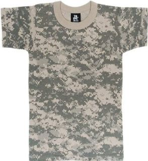 Kids camouflage T Shirts ACU Digital Camo Tee MED