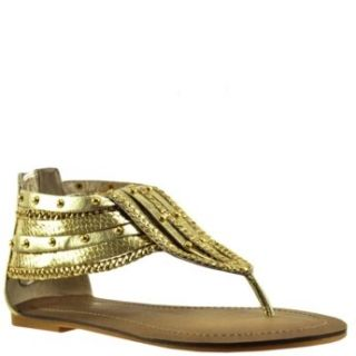 Wild Pair Womens Lizzie Wp Gold 9 Shoes