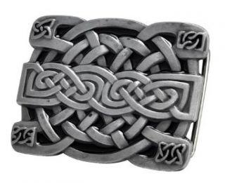 Buckle Rage Silver Irish Celtic Knot Mesh Design Belt