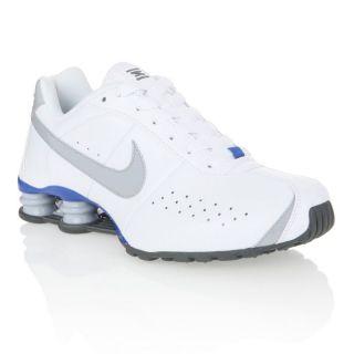 NIKE Baskets Shox Classic Homme Blanc, gris et bleu royal   Achat