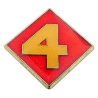 U.S. Marine Corps 004th Division Pin Clothing