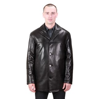 United Face Mens Lambskin Leather Car Coat
