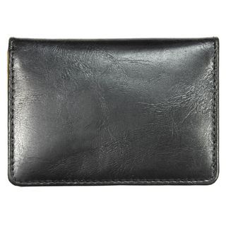 YL Black Leather Credit Card Holder Wallet