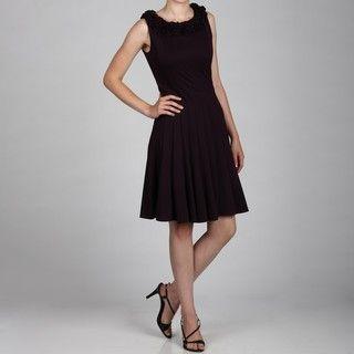 Jessica Howard Womens Sleeveless Pleated Dress