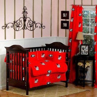 Georgia Bulldogs 5 piece Crib Bedding Set