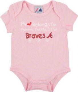 MLB Infant/Toddler Girls Atlanta Braves Girl Onesie (Pink