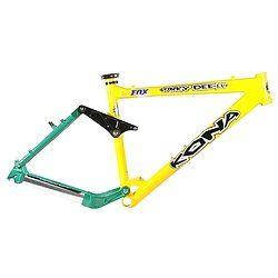 Kona Stinky DeeLux Mountain BIke Frame Yellow / Green 15
