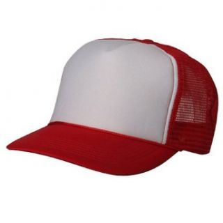 Foam Mesh Cap Red White W39S62D Clothing