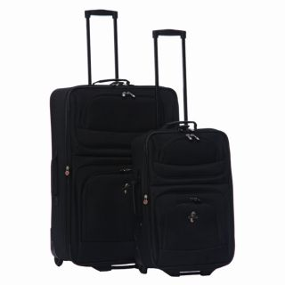 Vista Black 2 piece Luggage Set (21 inch, 28 inch)