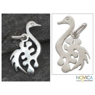 Handcrafted Sterling Silver New Adinkra Pendant (Ghana)