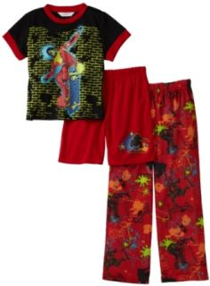 Komar Kids Boys 8 20 Graffiti Skater 3 Piece Pajama Set