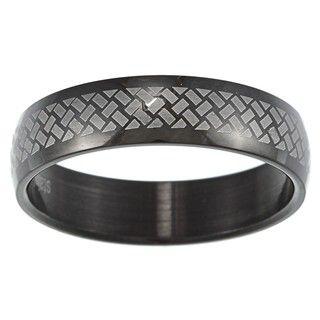Stainless Steel Mens Black Celtic Knot Ring