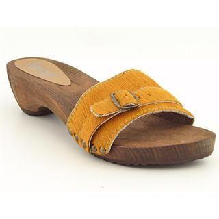 Sanita Womens Wood  Safari Artifical Fur Sandals (Size 6.5