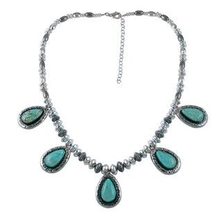 Southwest Moon Sterling Silver #8 Turquoise Necklace