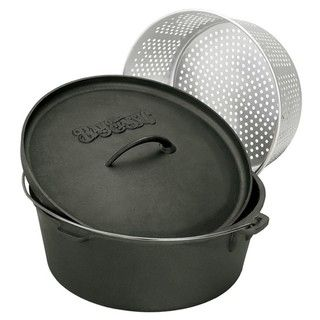Bayou Classic 8.5 qt Dutch Oven with Steamer Basket