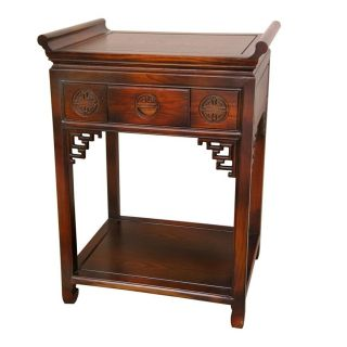 Rosewood 32 inch Walnut Altar Table (China)