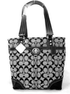 Coach Signature Hamptons Book Bag Purse Tote 13973 Black